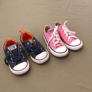 """lot of Two Converse all🌟Star toddlers 10""""sneakers"""